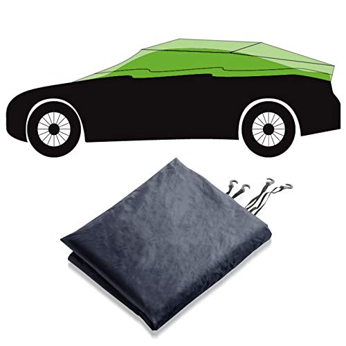 Autoabdeckung Halbgarage für Winter & Sommer | dunkelblau | passende Größe wählbar (Größe XL: 315x122x61cm)