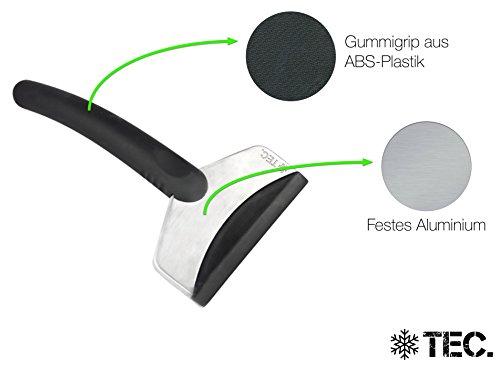 Eiskratzer, Eisschaber für das Auto aus stabilen Aluminium / Metall Alu und ABS-Plastik - unzerstörbares Winterzubehör von Icetec® -