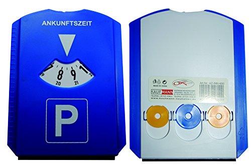 Kaufmann Neuheiten Parkscheibe mit 3 Einkaufswagen-Chips und integriertem Eiskratzer - 4