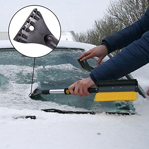 ProPlus Schneebürste mit Gummiwischer, Eiskratzer und Teleskopstiel ideal für Pkw, Transporter, Lkw und Wohnmobil -