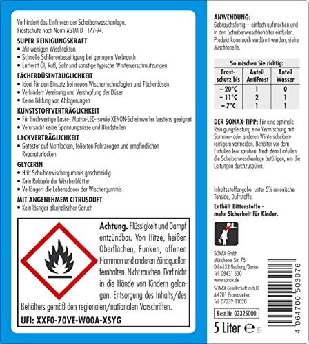 SONAX 332500 AntiFrost&KlarSicht gebrauchsfertig bis -20°C, 5 Liter - 2