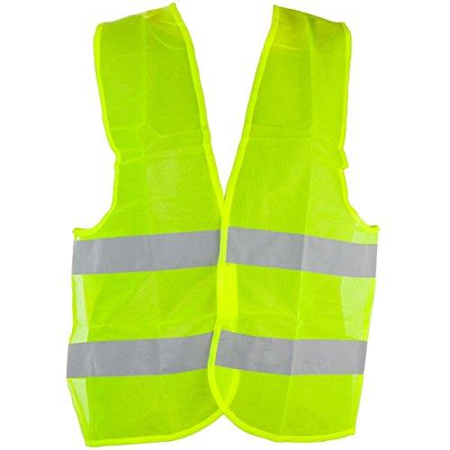 Warnweste EN471 gelb, knitterfrei, waschbar, Standardgröße
